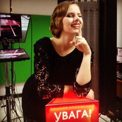 Lena im TV-Studio